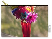 Multicolored Daisies On Window Sill Carry-all Pouch