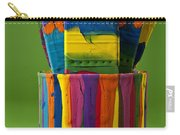Multicolored Paint Can With Brushes Carry-all Pouch