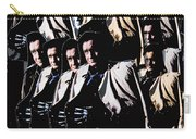 Multiple Johnny Cash's In Trench Coat 1 Collage Old Tucson Arizona 1971-2008 Carry-all Pouch