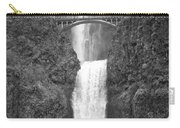 Multnomah Double Falls - Bw Carry-all Pouch
