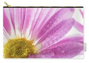 Mums Flowers Against A White Background Carry-all Pouch