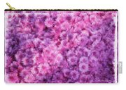Mums In Purple - Featured In 'comfortable Art' And 'nature Photography' Groups Carry-all Pouch