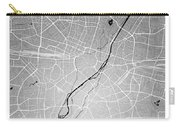 Munich Street Map - Munich Germany Road Map Art On Colored Backg Carry-all Pouch