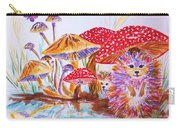 Mushrooms And Hedgehogs Carry-all Pouch
