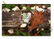 Mushrooms And Leaf Carry-all Pouch