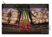Mushrooms And Radishes Framed Carry-all Pouch