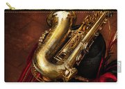 Music - Brass - Saxophone  Carry-all Pouch by Mike Savad