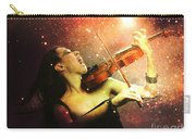 Music Explodes In The Night Carry-all Pouch by Linda Lees