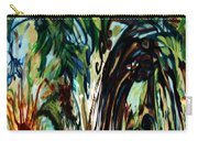 Music In Bird Of Tree Drip Painting Carry-all Pouch