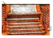 Music - Organist - The Pipe Organ Carry-all Pouch by Mike Savad