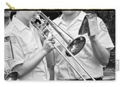 Music - Trombone - A Helping Hand  Carry-all Pouch by Mike Savad