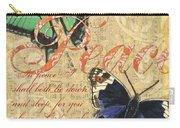 Musical Butterflies 2 Carry-all Pouch by Debbie DeWitt
