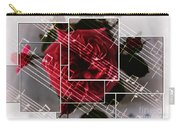 Musical Rose Montage Carry-all Pouch