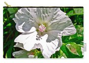 Musk Mallow Along Trail To Cap Gaspe In Forillon National Park-quebec  Carry-all Pouch