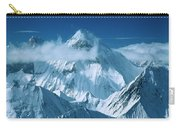 Mustagh Tower At Center And Masherbrum Carry-all Pouch