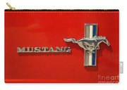 Mustang Logo And Emblem Carry-all Pouch