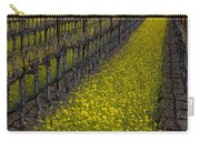 Mustrad Grass In The Vineyards Carry-all Pouch by Garry Gay
