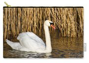 Mute Swan By Reed Beds Carry-all Pouch