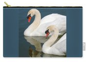 Mute Swan Pair Profile Carry-all Pouch