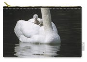 Mute Swan With Chicks On Back Carry-all Pouch