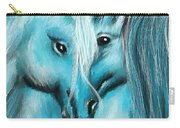 Mutual Companions- Fine Art Horse Artwork Carry-all Pouch
