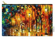 My Best Friend - Palette Knife Oil Painting On Canvas By Leonid Afremov Carry-all Pouch