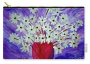 My Daisies Blue Version Carry-all Pouch