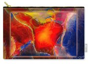 My Heart On My Sleeve An Abstract Painting Carry-all Pouch