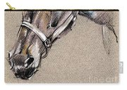 My Horse Portrait Drawing Carry-all Pouch
