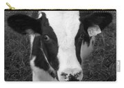 My Name Is Cow - Black And White Carry-all Pouch
