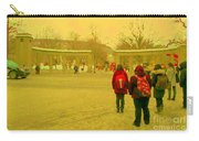 My Old Alma Mater Mcgill University Golden Olden Days Montreal Memories City Scenes Carole Spandau Carry-all Pouch