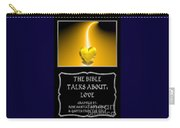 My The Bible Talks About Love Book Carry-all Pouch