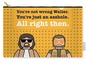 My The Big Lebowski Lego Dialogue Poster Carry-all Pouch