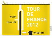 My Tour De France 2012 Minimal Poster Carry-all Pouch by Chungkong Art
