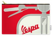 My Vespa - From Italy With Love - Red Carry-all Pouch