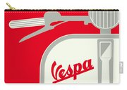 My Vespa - From Italy With Love - Red Carry-all Pouch by Chungkong Art