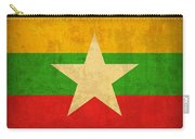 Myanmar Burma Flag Vintage Distressed Finish Carry-all Pouch