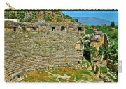Myra's Roman Theatre In Fourth Century-turkey Carry-all Pouch