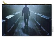 Mysterious Man In Fog At Night Carry-all Pouch