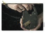 Mysterious Woman With Lock Carry-all Pouch by Edward Fielding