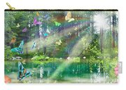 Mystic Foggy Forest Carry-all Pouch by Alixandra Mullins