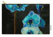 Mystique Blue Orchids Carry-all Pouch