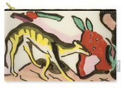 Mythical Animal  Carry-all Pouch by Franz Marc
