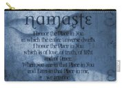 Namaste Blue Carry-all Pouch