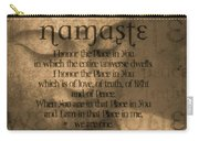 Namaste Orange Carry-all Pouch
