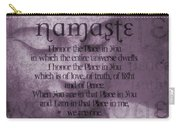 Namaste Pink Carry-all Pouch