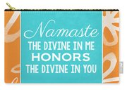 Namaste Watercolor Flowers Carry-all Pouch