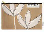 Namaste White Flowers Carry-all Pouch