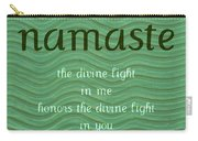 Namaste With Blue Waves Carry-all Pouch