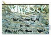 Namaste With Crystal Waters Carry-all Pouch
